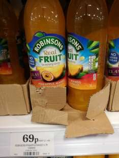 Robinsons Pineapple, mango and passion fruit 1ltr cordial - 69p - @ Home Bargains