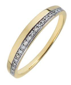 9ct Yellow Gold 0.10ct Diamond Wedding Ring. Now £47.99 from £179.99 @ Argos