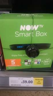 Now TV smart box with freeview HD & 5months entertainment pass £39 @ Tesco