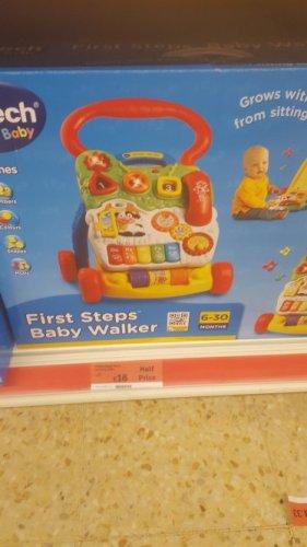 vtech first step baby walker £18 @ sainsburys