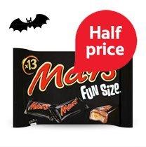 Funsize Chocolate Packs (195g > 275g) - Mars, Twix, Milky Way, Smarties, Maltesers, Fudge, Crunchie £1.39 @ Tesco from 21st