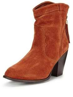 Chambers Real Suede Western Boot was £40 now £16 + Free C+C via Collect+ @ Very