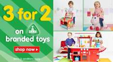 3 for 2 on ELC Branded Toys (inc 1/2 Price Happyland) + FREE C+C at ELC + Mothercare
