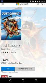 Just Cause 3 Xbox One Store Digital Download £18 @ Xbox