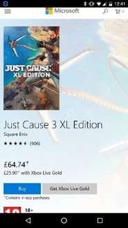 Just Cause 3 XL Edition Xbox One Store Digital Download £25.90 @ Microsoft