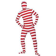 2nd Skin Red & White Striped Lycra Adult Medium Skinz Bodysuit £7.00 Delivered @ Amazon Sold by Its all fun and games