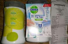 Dettol Power & Pure Tip Top Multi-Use Tap & Go 415g, Ocean Fresh Or Citrus £1 @ Poundworld In Store