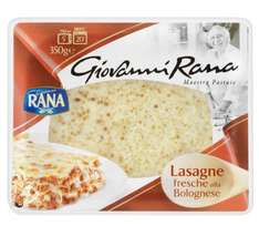 Giovanni Rana Lasagne Bolognese (350g = Meal for 1) was £2.00 now £1.00 (Rollback Deal)  @ Asda