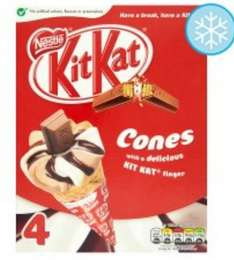 Nestle Kit Kat Ice Cream Cones 4 X 125Ml @ Tesco for £1.50