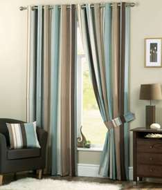Lined Curtains Various Sizes from 93p at Homebase (Online - P&P £3.95)