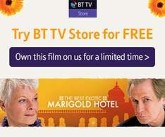 Free Movie to own on BT! - The Best Exotic Marigold Hotel