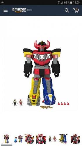Imaginext Power Rangers Morphing Megazord £41.99 from amazon