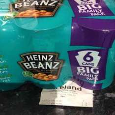 Heinz Beans 6 cans big family pack £2.79 @ Iceland