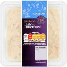 Taste the Difference Coleslaw, 635g was £2.00 now £1.00 @ Sainsbury's