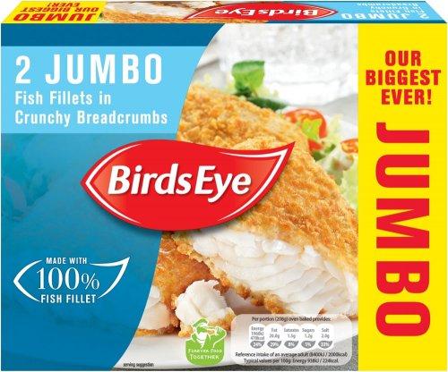 Birds Eye Jumbo Battered or Breaded (Alaska Pollack Fish Fillets) (2 per pack = 400g) was £2.75 now £1.50 @ Sainsbury's