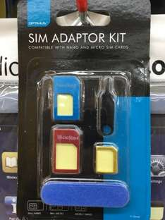 Universal SIM Adaptor 'Toolkit' at Poundworld - £1.00