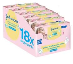Johnson's Baby Extra Sensitive Fragrance Free Wipes - Pack of 18 (1008 Wipes) £9.97 Subscribe & Save @ Amazon