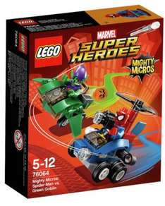 Lego Super Heroes Mighty Micros £4.92 to £5.47 Various Sets @ Amazon UK (add on item / £20 spend)