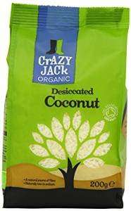 Crazy Jack Organic Desiccated Coconut 200 g (Pack of 6) Amazon £8.50 Subscribe and save £8.07.