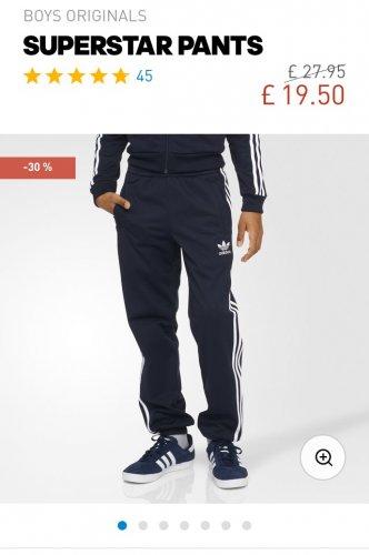 Adidas Superstar Pants @ Adidas Now £19.50 - £3.95 del