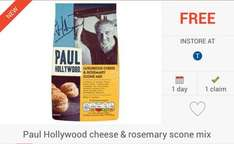 FREEBIE: Paul Hollywood Cheese & Rosemary Scone Mix via Checkoutsmart App - £1 @ Tesco Only...