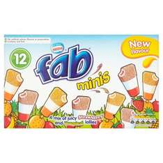 Fab x 12 full size lollies pack reduced from £2 to £0.45 Morrisons