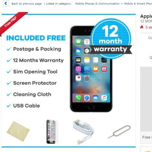 IPhone 6s 16GB Unlocked Refurbished £369.99 @ musicmagpie / Ebay