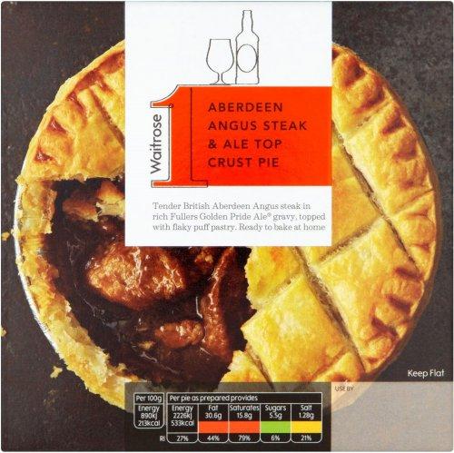 Waitrose Aberdeen Angus Steak & Ale Top Crust Pie (250g) was £3.50 now £2.33  Waitrose
