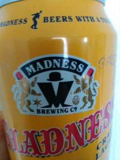 Madness(Gladness) Craft Lager 69p a tin *Instore* @ B&M