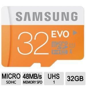 Samsung 32GB EVO MicroSDHC was £22.99 now £7.99 @Vodafone ebay