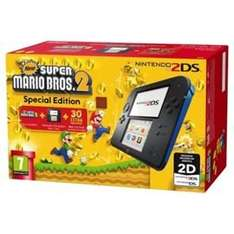 Black and Blue 2DS Console and New Super Mario Bros. 2 £69 @ Tesco Direct