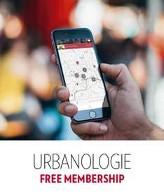 A year's free Urbanologie (city guide app) membership
