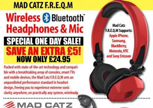 mad catz f.r.e.q.m wireless headphones - £24.95 - ijtdirect (£3.99 del)