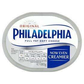 Various Flavours Philadelphia Cream Cheese (180g) £1.00 @ Asda (Rollback)
