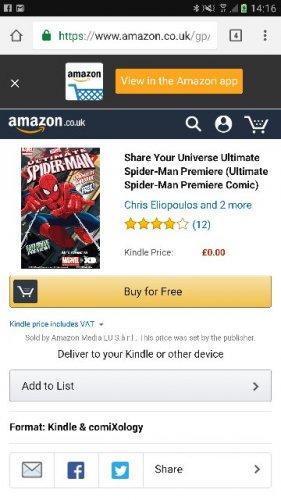 Spider-Man digital e-book comic FREE @ Amazon