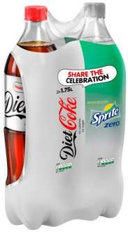 1.75ltr Coca cola and Sprite or Diet coca cola and Sprite zero twin pack £1 @ Poundland