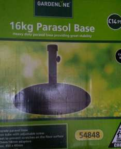 16kg parasol base £3.75 @ aldi