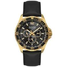 Accurist Men's Quartz Watch with Analogue Display and Leather Strap £37.37 delivered @ Amazon