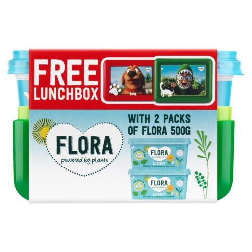 Flora light spread x2 plus lunch box , sainsburys for £1