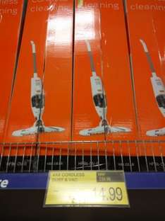 cordless vax cleaner instore at B&M for £14.99