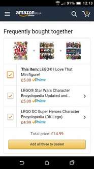 LEGO I Love That Minifigure Book £5.00 from Amazon (Prime price) or plus £1.99