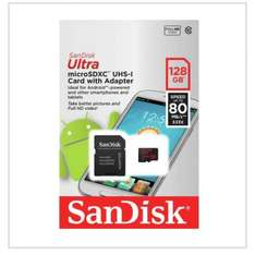 sandisk 128gb micro SD card with adapter £34.99 @ Argos