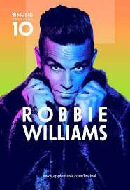 Robbie Williams live on Sunday at Apple Music Festival 10