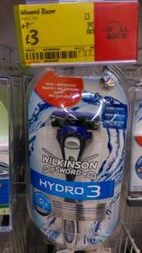 Wilkinson Hydro 3 £3 @ Asda