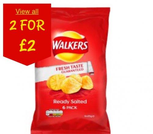 ALL WALKERS CRISPS 2 FOR £2 @ ASDA