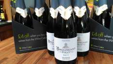 Lidl Broadwoods Brut 12.5 %, Reduced from £14.99 to £3.99 but buy 4 for £2.99 each.