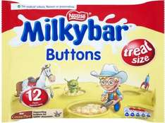 Milkybar Buttons Minis (12 Pack = 189g) Half Price was £2.50 now £1.25 @ Tesco
