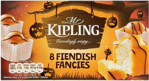 Mr Kipling Halloween Fiendish Fancies & Chocolate & Slime Slices 50p instore Morrisons