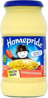 Homepride Pasta Bake Creamy Tomato and Herb Pasta Bake Sauce with Tomato, Onion and Basil (500g) Half Price was £1.59 now 79p @ Tesco