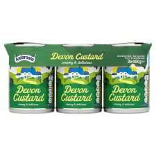 Ambrosia Ready-To-Serve Devon Custard 3 x 400g Tins - £1 at Tesco